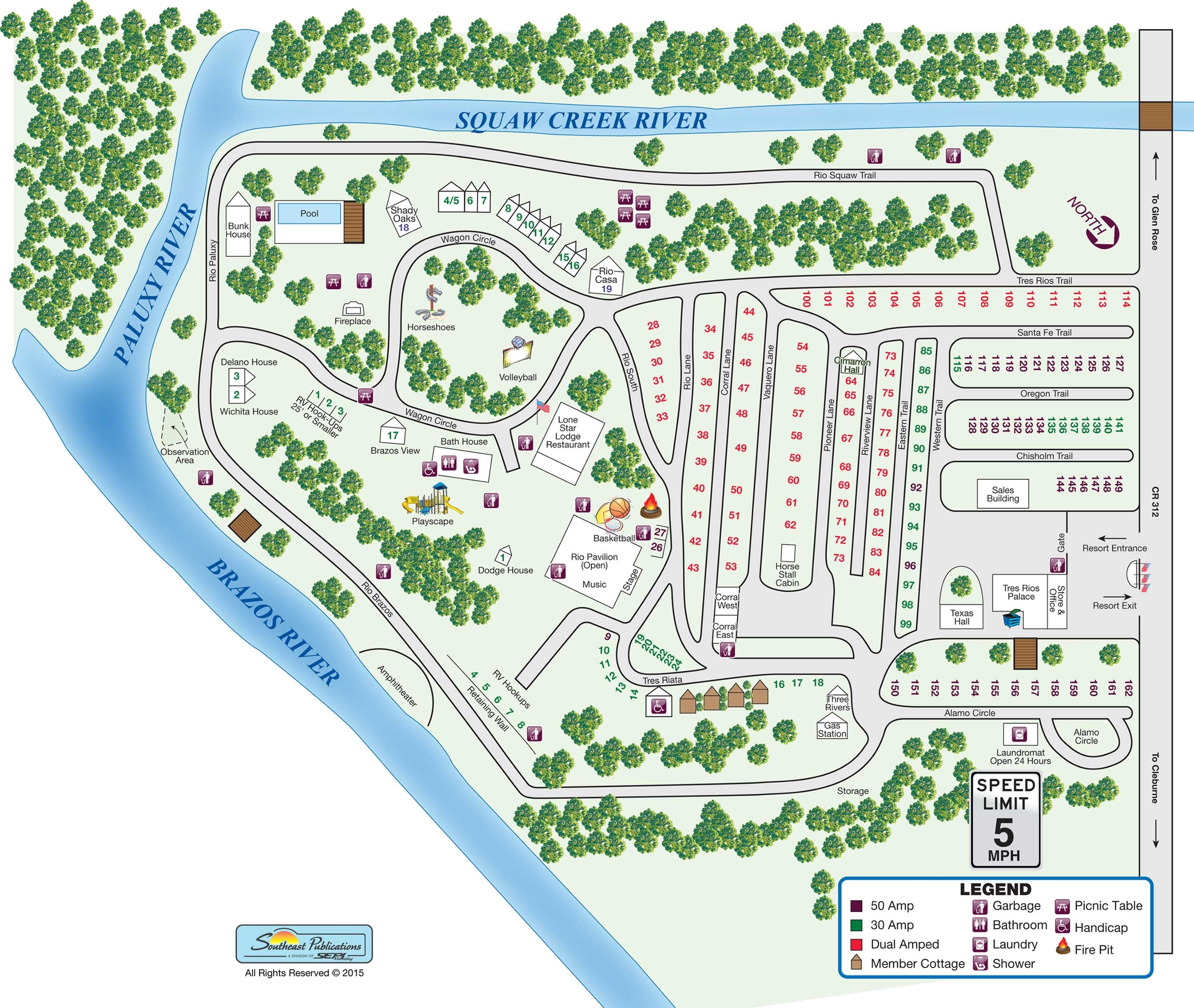 Tres Rios RV Park and Resort, Glen Rose, TX - GPS ...